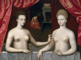 School of Fontainebleau - Gabrielle D'Estrees and One of Her Sisters