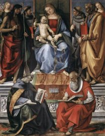 Luca Signorelli - Madonna With Child Among Saints