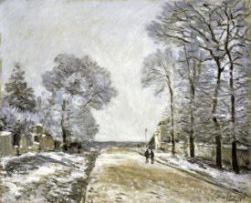 Alfred Sisley - The Road, Effect of Snow (La Route, Effet de Neige)