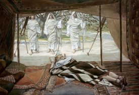 James Tissot - Abraham and The Three Angels