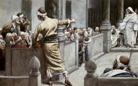 James Tissot - Blind Man Tells His Story To The Jews