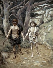 James Tissot - Cain Leadeth Abel To Death