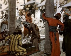 James Tissot - Deceit and Guile Depart Not From Her Streets