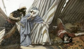 James Tissot - Jael Shows To Barak, Sisera Lying Dead