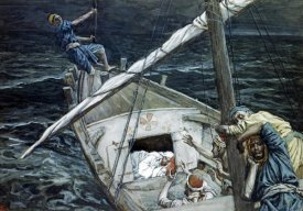 James Tissot - Jesus Asleep During The Storm