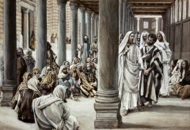 James Tissot - Jesus Walking On Solomon's Porch