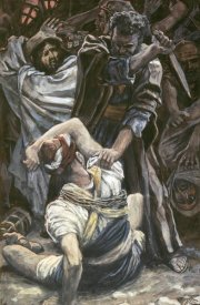 James Tissot - Peter Smites Off The Ear of Malchus