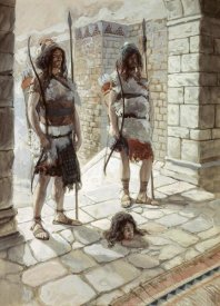 James Tissot - Reehab and Baanah Bring The Head of Ish-Bosheth