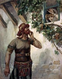James Tissot - Samson Seeth Delilah at Her Window