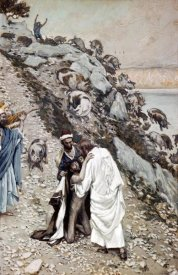 James Tissot - Swine Driven Into The Sea