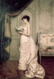 Auguste Toulmouche - You Are My Valentine, Love Letter With Roses