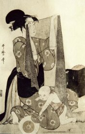 Kitagawa Utamaro - Mother and Child