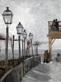 Vincent Van Gogh - Terrace and Observation Deck at the Moulin