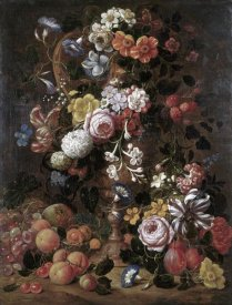 Nicolas van Veerendael - Roses, Dahlias, Convolvulus and Other Flowers