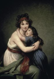 Elisabeth Vigée Le Brun - Madame Vigée Le Brun and Her Daughter