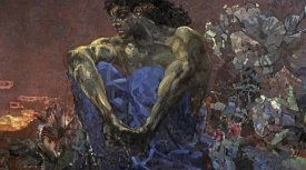 Mihail Aleksandrovic Vrubel - Demon Seated