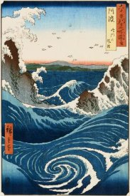 Hiroshige - Whirlpool and Waves at Naruto, Awa Province