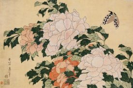 Hokusai - Pink and Red Peonies