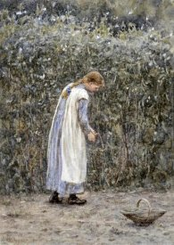 Helen Allingham - The Young Gardener
