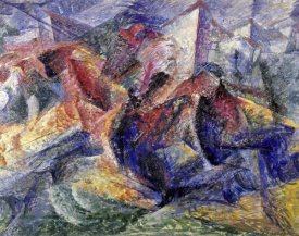 Umberto Boccioni - Horse, Horseman and Buildings