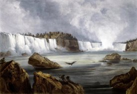 Karl Bodmer - Niagara Falls Illustration in Wied-Neuwied