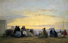 Eugene Boudin - On the Beach, Sunset