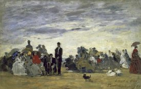 Eugene Boudin - The Beach at Trouville