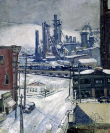 H.J. Brennan - Blast Furnaces in Winter