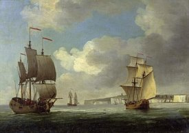 Charles Brooking - Shipping Off the South Coast of England