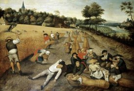 Pieter Bruegel the Elder - Summer: Harvesters Working and Eating in a Corn Field