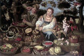 Vincenzo Campi - A Fruit Cuisine and Vegetable Cuisine Stall in an Orchard