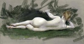 William Merritt Chase - Reclining Nude