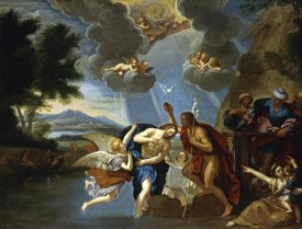 Circle of Francesco Albani - The Baptism of Christ