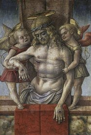 Carlo Crivelli - Lamentation Over The Dead Christ with Two Angles