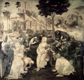 Leonardo Da Vinci - The Adoration of the Magi (underpainting)
