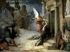 Jules-Elie Delaunay - The Angel of Death; Plague in Rome