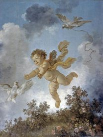 Jean Honore Fragonard - Love Reaching for a Dove