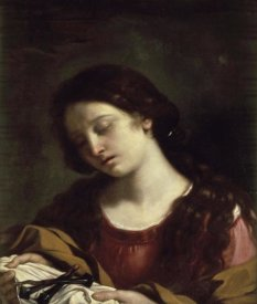 Giovanni Guercino - The Magdalen Contemplating the Nails of the Passion