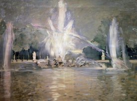 Paul Cesar Helleu - Great Waters in the Fountain