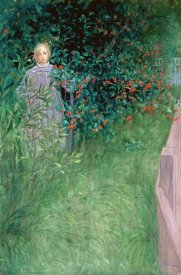 Carl Larsson - In the Hawthorn Hedge