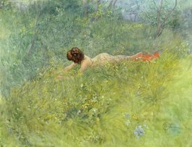 Carl Larsson - On The Grass