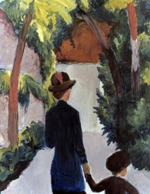 August Macke - Mother & Child in the Park
