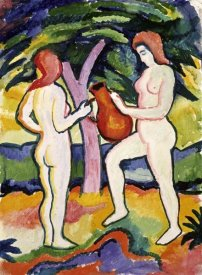 August Macke - Two Nudes with Jug