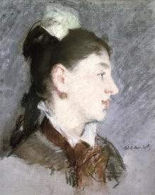 Edouard Manet - The Young Woman with a Wing Collar, Profile (La jeune fille au col cassé)