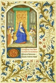 Simon Marmion - The Virgin Enthroned : Book of Hours (Detail)