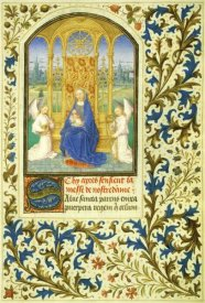 Simon Marmion - Virgin Enthroned between Angels: Book of Hours (Detail)