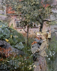 Eilif Petersen - Two Sisters in a Garden