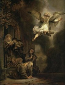 Rembrandt Van Rijn - Archangel Raphael Leaving the Family of Tobias