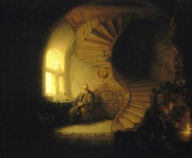Rembrandt Van Rijn - Philosopher in Meditation