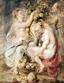 Peter Paul Rubens - Ceres and Two Nymphs with a Cornucopia